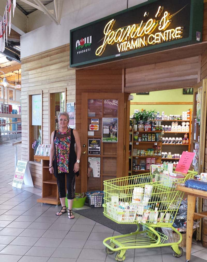 Jeanie in front of store